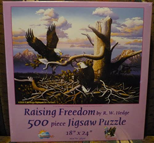 Sunsout R. W. Hedge Raising Freedom 500pc Jigsaw Puzzle