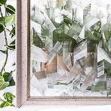 Película de Ventana Impermeable de PVC Irregular, Etiqueta de Vidrio de Ventana de privacidad Decorativa estática 3D no Adhesiva, Utilizada en la Oficina en casa K 45x200cm