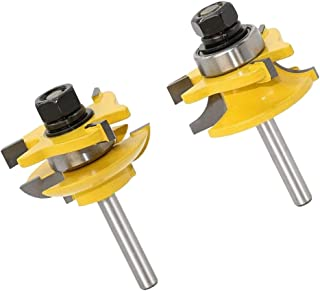 2Pcs Shaker Style Stile and Rail Router Bits for Plywood Panels - 1/4