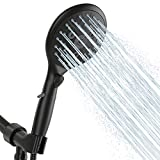 Suncleanse Shower Head, 7 Settings Hand held Shower with ON/OFF Pause Switch, Matte Black High Pressure Shower Head with 71 inch Hose