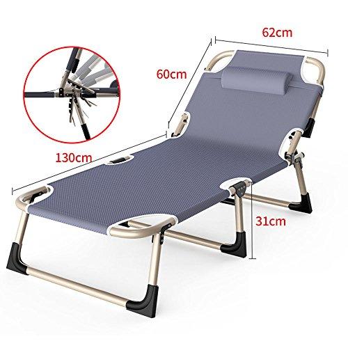 FEIFEI Fauteuils inclinables Pliage feuille simple bureau déjeuner pause pliant chaise inclinable sans tapis Pliant (Couleur : Gris)