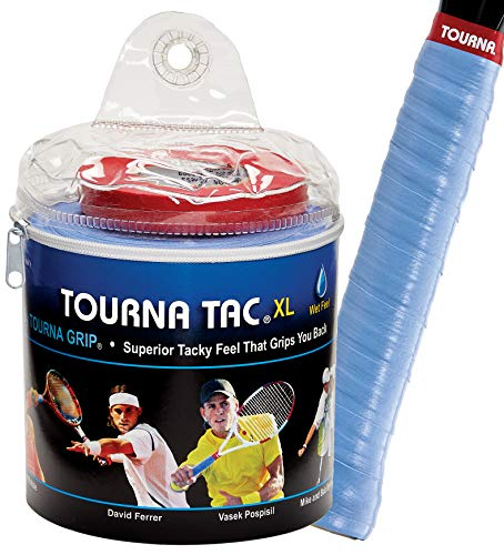 Unique Overgrip Tourna TAC Tour 30er - Mango de Raqueta de Tenis, Color Azul, Talla Standard