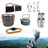 Kit De Cocina De Camping, Cocina Gas con Compacto Y Fácil De Transportar. para Cámping