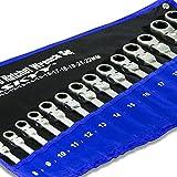 Set da 14pezzi di HASKYY - Set di chiavi a cricchetto snodate, 8-24 mm