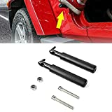 Pedales coches Pedo de repuesto de pie Pedal de Pedo Pedal de Pedal Panel de acero sólido para Jeep Wrangler JK JKU JL 2007-2018 (Color Name : Black)