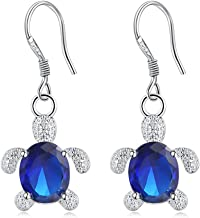 Jewelry مجوهرات Creative Crystal Gemstone Tortoise Shape Dangle Earrings Hook Charming Daily Party Dress Jewellery Decoration for Women Girl,Colour Name:Green جواهر سازی (Color : Blue)