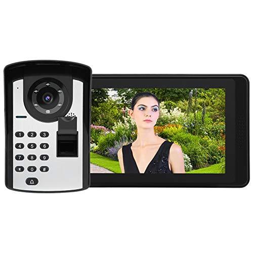 Zwindy Videoportero con Huella Dactilar, Teléfono con contraseña Impermeable(European Standard (110-240V))