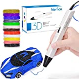 3D Pen for Kids,MerLion 3D Pen with 1.75mm PLA Filament Pack of 12