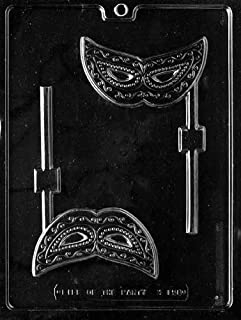 Cybrtrayd M158 Mask Lolly Chocolate Candy Mold with Exclusive Cybrtrayd Copyrighted Chocolate Molding Instructions