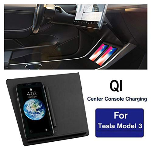 Qi Auto Accessoires Opladen Dock Center Console Draadloze Oplader Board Mobile voor Tesla Model 3