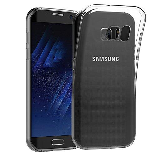 Hoesje voor Samsung Galaxy S7 Edge (5,5 inch Scherm) MaiJin Schokbestendige Hoes Gemaakt van Doorzichtig Shock Proof TPU Siliconen