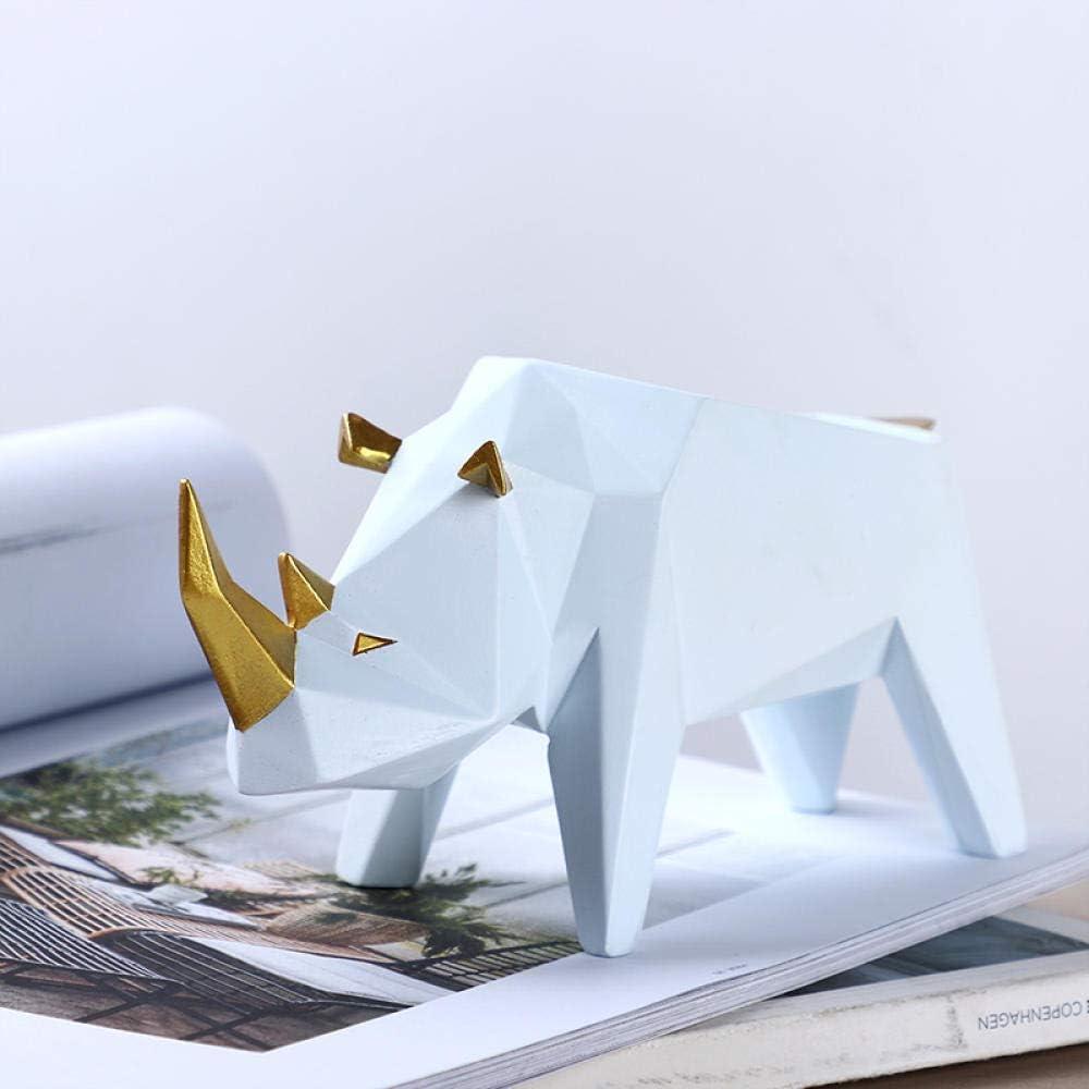LUISONG YH-KE Crafts Sacramento Mall Decorations Art Animal Craft Rhinoceros Cre price