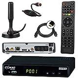 Bild des Produktes 'netshop 25 Set: Comag SL65T2 DVB-T2 Receiver (Mit Zugangssystem für FREENET TV) + aktive DVB-T2 Antenne + HDMI Kabe'