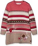 boboli Knitwear Dress For Baby Girl Vestido, Rojo (Rojo 3548), 74 (Tamaño del Fabricante:9M) para Bebés