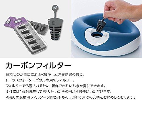 TORUS(トーラス)ペット用自動補給付き給水器(ポータブルウォーターボウル)浄水機能ろ過水持ち運びこぼれにくい(1Lモデルチャコール)