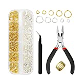 Kingsdun Jewelry Making Tools with Jewelry Findings,Needle Nose Plier, Jump Ring Opener and Tweezer,Repair Kit...