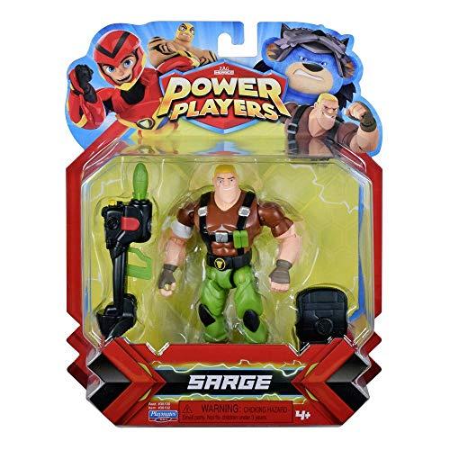 Power Players, Figurine Articulée 12 cm, Sergent Charge, 10 points d'articulation & Accessoires, Jouet pour enfants dès 4 ans, PWW014