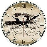 DIYXUYY Patrón Reloj de Pared Reloj de Pared con números R