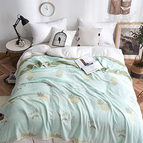 Zhangapn1 handdoek van puur katoen, acht lagen van gaas, voor eenpersoonsbed, tweepersoonsbed, airconditioning, quilt voor kinderen