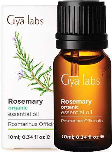 Gya Labs Olio essenziale di patchouli biologico per alleviare lo stress e dormire - Allevia la pelle secca e la forfora - Grado terapeutico puro al 100% per aromaterapia-10ml