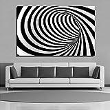 Pintura sin Marco Curva de Arte Abstracto en Blanco y Negro Moderno Lienzo Sala de Estar Arte decoración de la paredZGQ4723 70X105cm