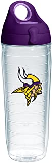 Tervis NFL Minnesota Vikings Primary Logo Tumbler with Emblem and Purple Lid 24oz Water Bottle, Clear