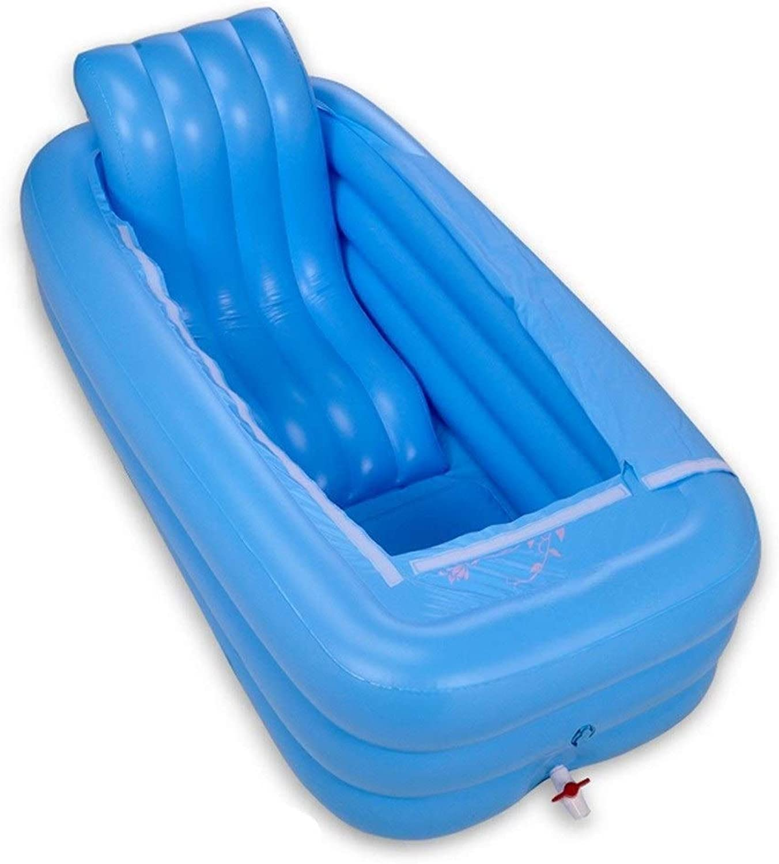 JGWJJ Blaue Farbe aufblasbare badewanne Kunststoff tragbare Faltbare badewanne einweichen badewanne Home spa Bad mit elektrischer luftpumpe ausrüsten
