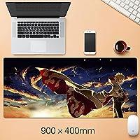 NARUTO大型マウスパッドの折りたたみ式マウスパッドファッションゲーミングマウスパッドコンピュータのラップトップデスクトップラップトップキーボードコンソール(15.75 x 35.45インチ)-A5_400 * 900 * 3mm