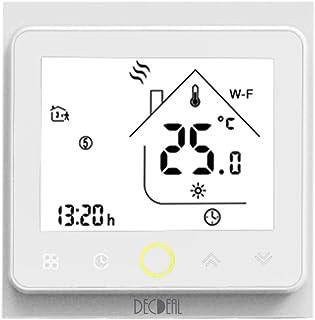 Termostato WiFi para Caldera de Gas/Agua Termostato Inteligente programable - Función de Control de Voz Compatible con Ale...