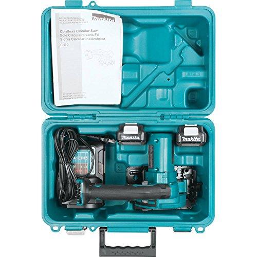 Makita SH02R1 12V Max CXT Lithium-Ion Cordless Circular Saw Kit, 3-3/8
