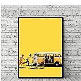 Yxjj1 Little Miss Sunshine Poster Filmkunst Leinwand