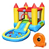Costzon Inflatable Bounce House, Castle Jumping Bouncer with...