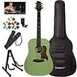 Sawtooth Modern Vintage Dreadnought Acoustic Guitar with ChromaCast Accessories...
