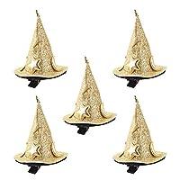 ミニウィッチハットかわいいヘアクリップコスプレ衣装アクセサリーハロウィンパーティーの装飾5ピース
