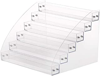 xxiaoTHAWxe 6 of the layers Clear Acrylic Beauty Makeup Nail Polish Storage Organizer Rack Display Holder, Just Stand on The Table or Desk Six Layers