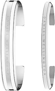 Daniel Wellington Unisex Classic Bracelet Gift Set, Silver/White