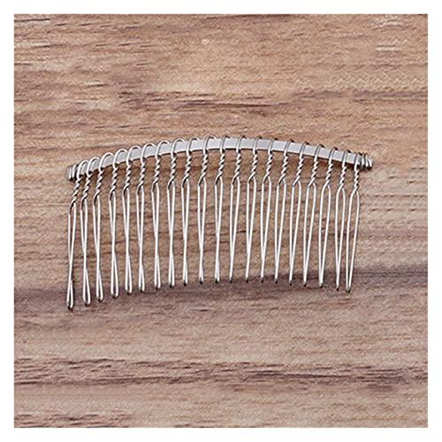 QA - Peine de pelo de 12/15/20 dientes, color dorado, accesorios para...