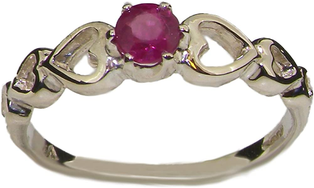 925 Sterling Fixed price for sale New arrival Silver Real Genuine Ring Ruby Band Womens