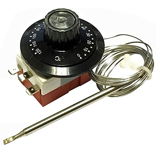 YTGUEVKDH Ajustable capilar del termostato de Inicio automático de Piezas del Motor Perilla Profesional reemplazo del Interruptor de Control del Ventilador de refrigeración del radiador del Coche