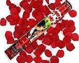 5 x Rosen Regen 60 cm mit roten Rosenblättern Konfetti Kanone Shooter Hochzeit Konfettibome Partypopper