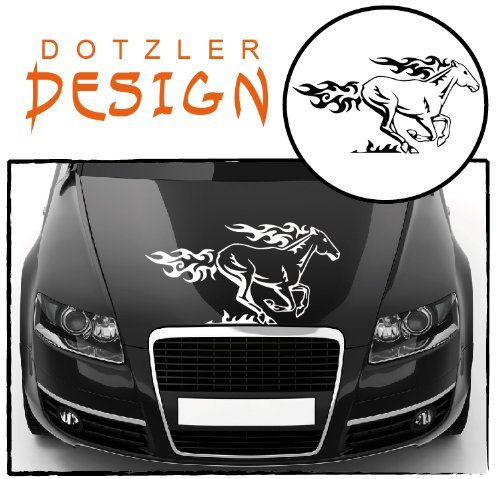 DD Dotzler Design - 281213-4 Flammen Pferd Tribal Autoaufkleber - ca 57 x 30 cm