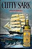 JULYCC Cutty Sark whisky escocés Metal cartel decoración de pared retro moda chic divertido para bar, cafetería, garaje, hogar patio al aire libre 8 x 12 pulgadas