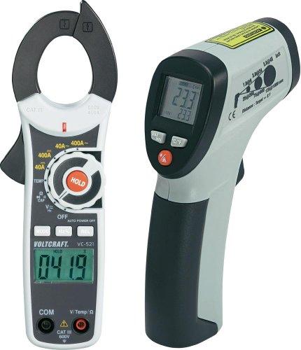 VOLTCRAFT Vorteilsset VC-521 Stromzange / IR 260-8S Infrarot-Thermometer