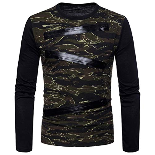 Men Sweatshirt Men Sweat Jacket Zipper Business Casual Patchwork Soft Mixed Fiber Comfortable Men Sports Jacket Autumn New Long Sleeve Slim Lightweight Men Shirt Z-Army Green L