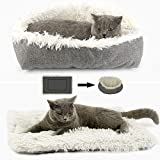 onebarleycorn - Plush Pet <span class='highlight'>Bed</span> Mat,Cat Dog Nest Foldable Convertible Self-Warming Cushion Puppy Kittens Pad <span class='highlight'>for</span> Travel Home Indoor,Machine Washable
