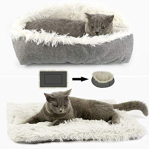 onebarleycorn - Katzenbett,Katzenbett Plüsch hundebett Weich Warm Katze Schlafen Bett Haustierbett katzenbettchen Betten für Katzen und Hunde,Waschbare