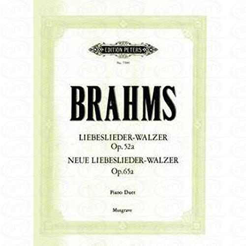 LIEBESLIEDER OP 52 + 65 - arrangiert für Klavier 4händig [Noten/Sheetmusic] Komponist : BRAHMS JOHANNES