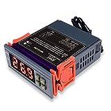 DiyStudio 10 A/AC 90V ~ 250Vデジタル温度コントローラは熱電対ディジタルサーモスタットを制御します-50°C〜110°C センサー 付き MH1210W AC110V 冷蔵庫 水族館 実験室 倉庫 温室などの温度管理システムに最適です