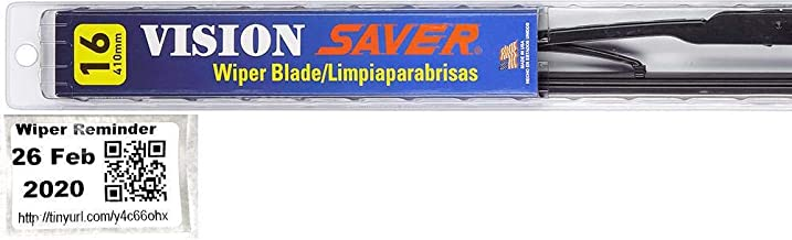 Vision Saver - Passenger Windshield Wiper Bundle - 2 Items: Passenger Blade & Reminder Sticker fits 1979-1993 Ford Mustang