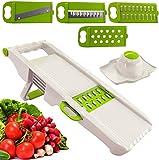 Zekpro Mandoline Slicer, Vegetable Chopper with 5 Interchangeable Blades, Vegetable Slicer, Cutter, Shredder, Veggie Slicers for Fruits